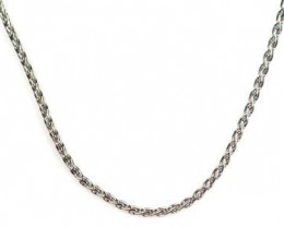 5.3 grams 18K WHITE GOLD CHAIN, 44 CM LONG 5.3 GRAMS L331