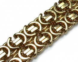 H39.7 grmas HEAVY 9 K GOLD CHAIN, 50 CM LONG 39.7 GRAMS L319