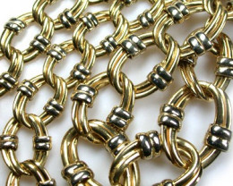 18K ITALIAN GOLD CHAIN, 45 CM LONG 28 GRAMS L3740