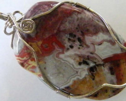 Sample sample sampleLARGE CRAZY LACE AGATE PENDANT 112.60 CTS [GT1087]