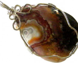 Sample sample sampleLARGE CRAZY LACE AGATE PENDANT 49.25 CTS [GT1106]