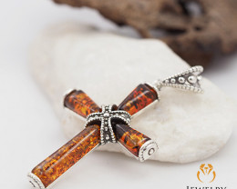 Baltic AmberCross  Pendant  Sale, direct from Poland p AM260