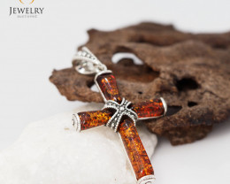 Baltic AmberCross  Pendant  Sale, direct from Poland AM 261