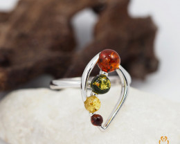 Baltic Amber Ring size 10  Sale, direct from Poland  AM 830