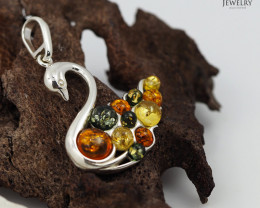 Baltic AmberSwan  Pendant  Sale, direct from Poland AM 263