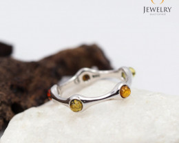 Baltic Amber Ring  size 7  ale, direct from PolandAM 839