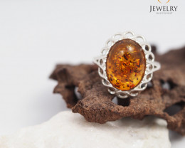Baltic Amber Ring size 9  Sale, direct from Poland  AM 315