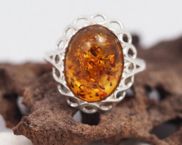 Baltic Amber Ring size 9.5  Sale, direct from Poland plus Bonus AM 314