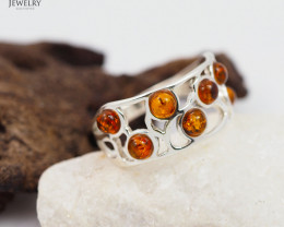 Baltic Amber Ring size 11   Sale, direct from Poland  AM 303