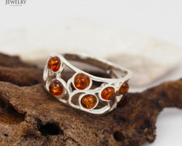 Baltic Amber Ring size 11   Sale, direct from Poland  AM 304