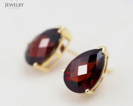 14 K Yellow Gold Garnet earrings E735A 1950