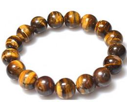 Beautiful beads tiger eye  Bracelet 96.32 cts