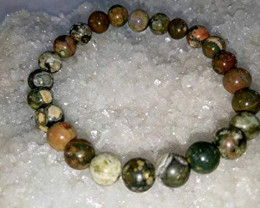 Beautiful beads  Bracelet  Rainforest Jasper Bracelet