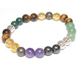 Beautiful beads  Bracelet Pyrite Citrin Green Aventurine Tiger Eye