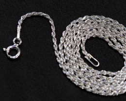 18 Inch,46 cm ITwisted Rope Silver chain  .most popular chain    AM140