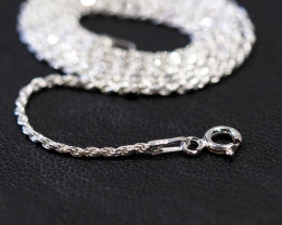 18 Inch,46 cm ITwisted Rope Silver chain  .most popular chain    AM141