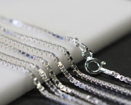 20 Inch,50 cm  Sq Box  Silver chain  .most popular chain    AM150