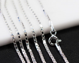 20 Inch,50 cm  Sq Box  Silver chain  .most popular chain    AM154