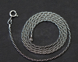 20 Inch,50 cm  antique style twisted iodized  Silver chain  .    AM155