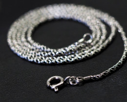 20 Inch,50 cm  antique style twisted iodized  Silver chain  .    AM156