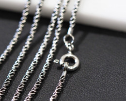 3 X20 Inch,50 cm  Santique style twisted iodized  Silver chain  .    AM162