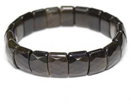 Golden Shine Obsidian Stone Bracelet 15 MM