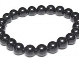 black tourmaline  beads ~ bracelet  ~ nice 87.40 cts