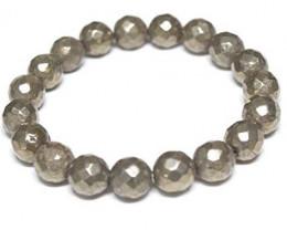 Faceted Pyrite Stone bracelet 8mm