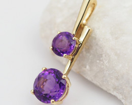 18 K Yellow Gold Amethyst Pendant P11441