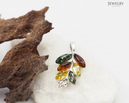 Baltic Amber Pendant  Sale Leaf Design , direct from Poland  AM 163