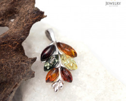 Baltic Amber Pendant  Sale, Leaf shape direct from Poland  AM 164