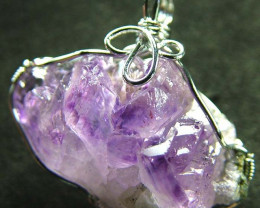 AMETHYST CLUSTER WIRE WRAPPED 48.90 CTS [GT309]