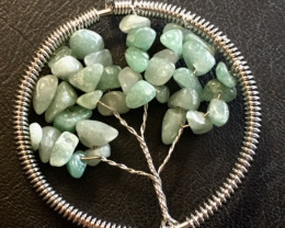 Aventurine  Tree of Life GemstonesPendant  AM188
