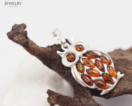 Baltic Amber Pendant  Sale, Cute Owl ,direct from Poland  AM 203