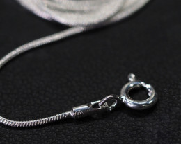18 Inch,46 cm  Snake   Silver chain , most popular .    AM208