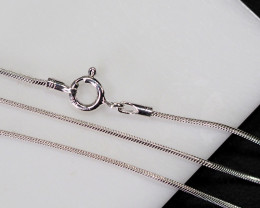 Three 18 Inch,46 cm  Snake   Silver chain , most popular .    AM210