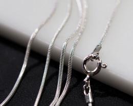 THREE 18 Inch,46 cm  Snake   Silver chain , most popular .    AM211