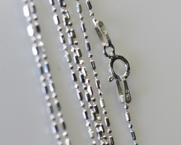 18 Inch,45 cm Ball Mix Silver chain , most popular . AM 229