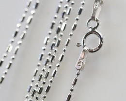 18 Inch,45 cm Ball Mix Silver chain , most popular . AM 230