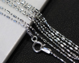 THREE X18 Inch,45 cm Ball Mix Silver chain , most popular . AM 233