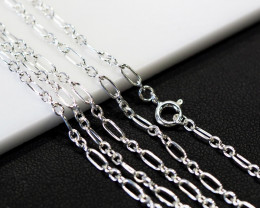 30 Inch,75 cm Long Curb Silver chain , most popular . AM 240