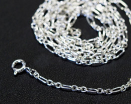 30 Inch,75 cm Long Curb Silver chain , most popular . AM 242
