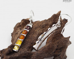 Baltic AmberLong  Earring Sale,Sheppard hook s, direct from Poland  AM 246