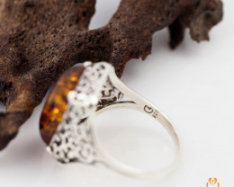 Baltic Amber Rectangular Ring size 7Sale,, direct from Poland  RN 1754