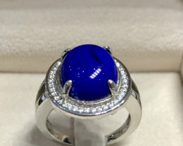 Lapis Lazuli Gemstone 925 Sterling Silver Ring Jewellery Size  7 US