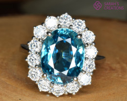 Silver Zircon rings