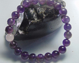 Amethyst Stone and rose quartz beads bracelet 8 mm
