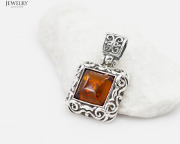 Baltic Amber Sale,Pendant rectangular , direct from Poland  AM 269