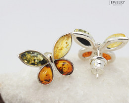Baltic Amber Sale,Butterfly Earrings  , direct from Poland  AM 276