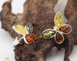 Baltic Amber Sale,Butterfly Earrings  , direct from Poland  AM 1277